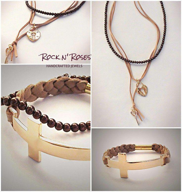 ★__Rock n' Roses handcrafted jewels--leather necklace n' bracelet__★  http://rocknroses-gr.blogspot.gr/2014/04/rock-n-roses-handcrafted-jewels.html