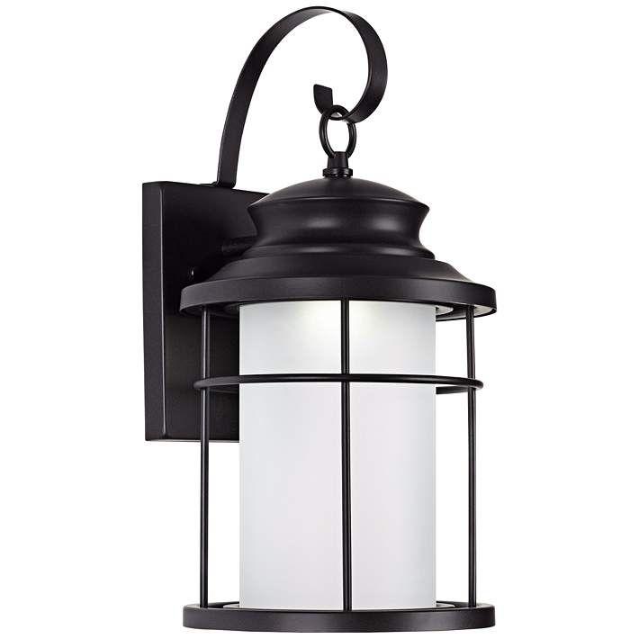 "Warburton 16"" High Black LED Outdoor Wall Light"