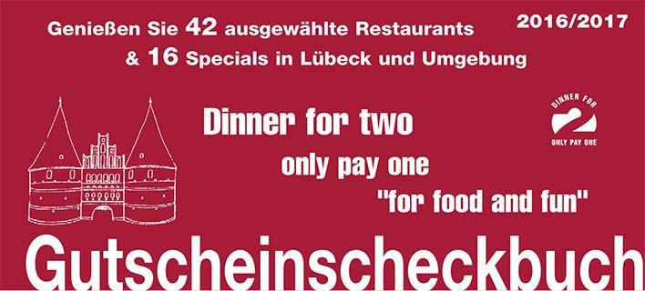 https://vimeo.com/182537490 Gutscheinbuch 2016/2017 für Lübeck und Umgebung, jetzt bestellen http://www.dinner-for-two.info