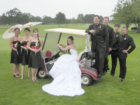 Golf theme wedding!