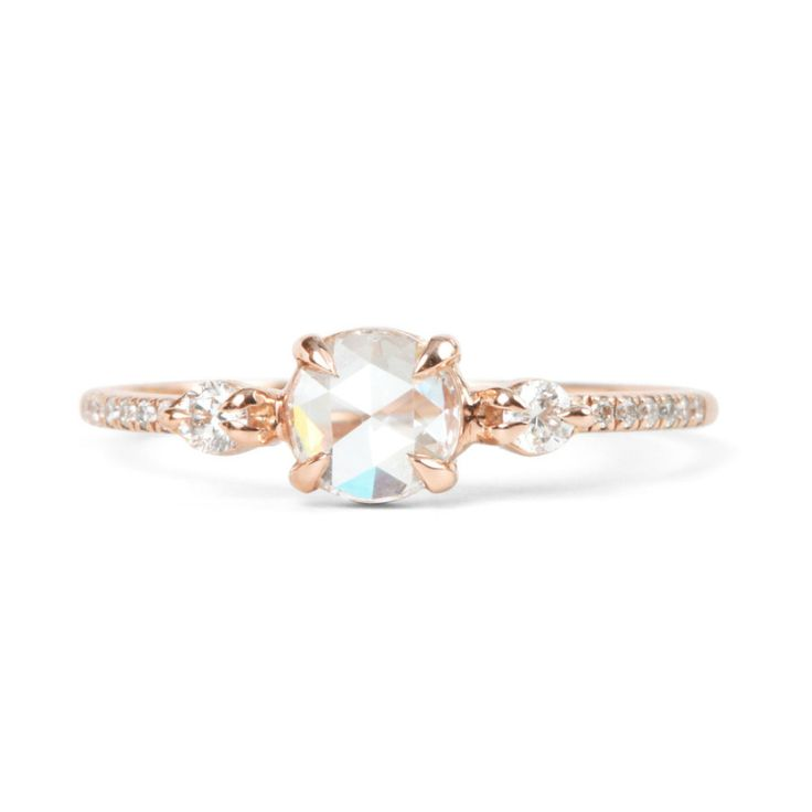 Catbird Wedding Odette the Swan Supreme: http://www.stylemepretty.com/2016/07/27/gold-rose-gold-platinum-engagement-ring-olympics/