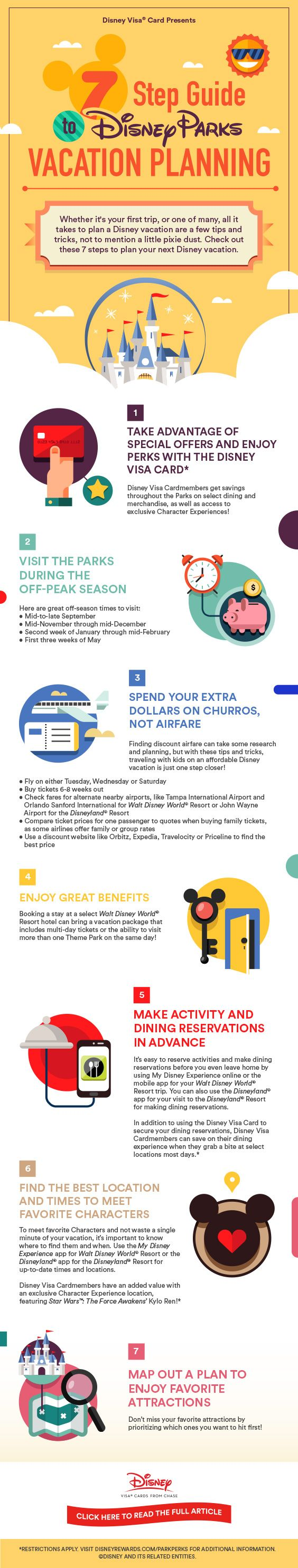Save big on your next Disney family vacation using your Disney Visa® Card and a few of these smart-planning tips and tricks!