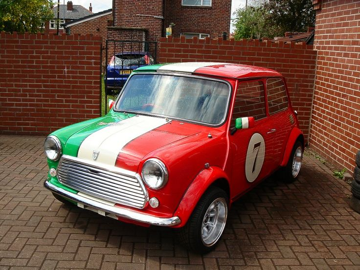 Classic mini p l special italian job you drive car for Cooper rentals