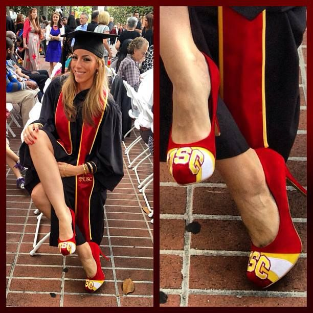 college graduation photo idea  shoes by www.herstar.com  #graduation #college #usc