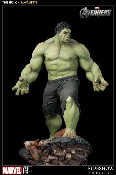 From the blockbuster film, The Avengers, Alter Ego Comics is pleased to offer the Hulk Maquette by Sideshow Collectibles. Sideshow has partnered with Legacy Studios, the company that provided the effects for The Avengers, to produce this towering statue of The Hulk as played by actor Mark Ruffalo. The Hulk Maquette is a 1:4 scale statue and stands over 2 feet tall!