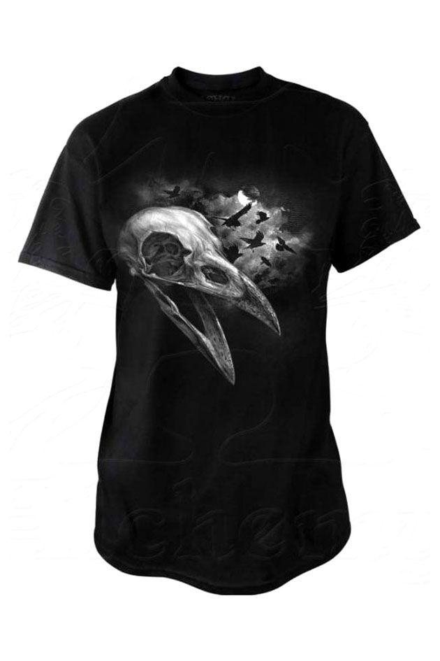 Alchemy Gothic Corvinculus Mens Gothic TShirt, Mens Raven Skull T-shirt BT847