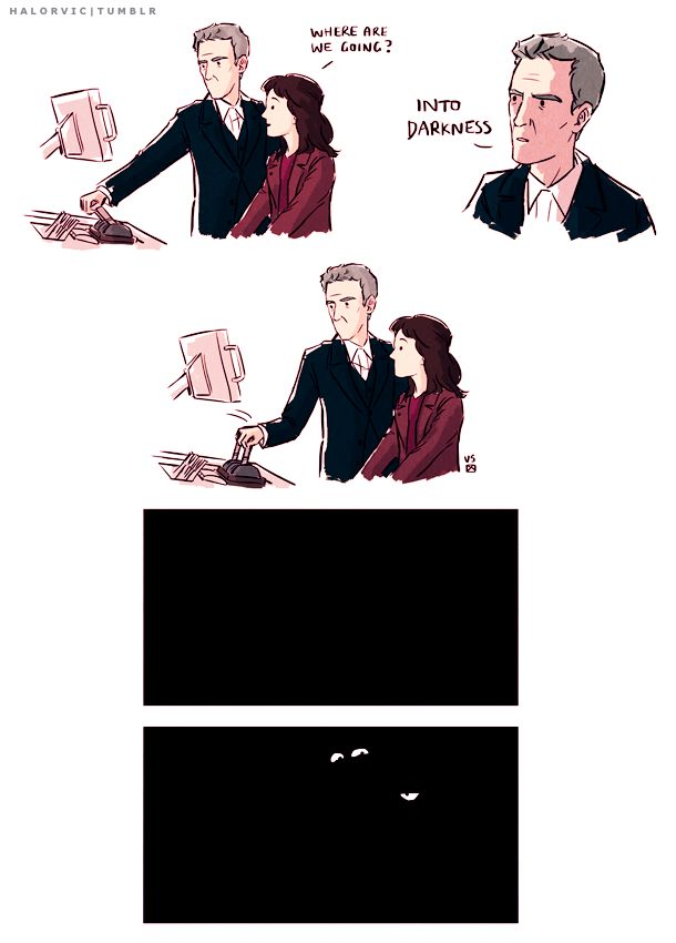"Twelfth Doctor funny with Clara. Great joke on the Doctor Who season 8 trailer <<--Clara: ""We are not amused"""