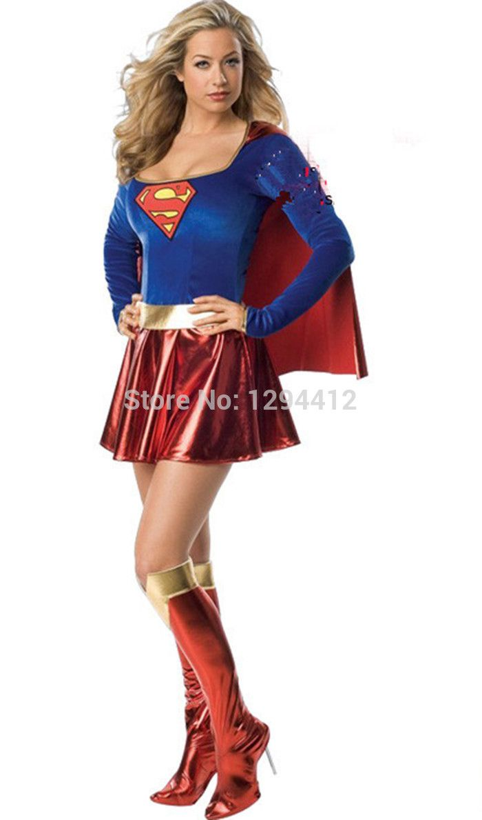 >> Click to Buy << Free shipping Superman for woman cosplay Halloween party costume Superman game uniforms Free size hot sale #Affiliate
