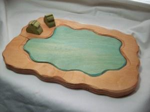 Wooden pond toy