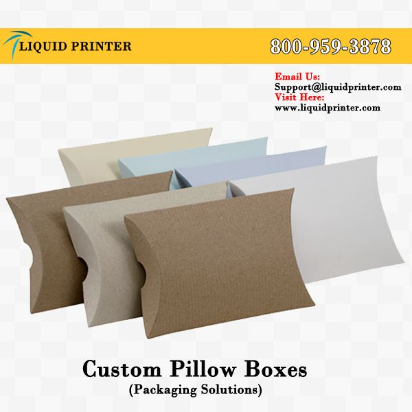 LiquidPrinter provide #pillowboxes in various sizes and shapes.