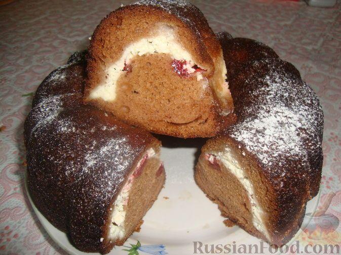 Рецепт Пирог с творогом и клубникой, cостав: Тесто: мука ...