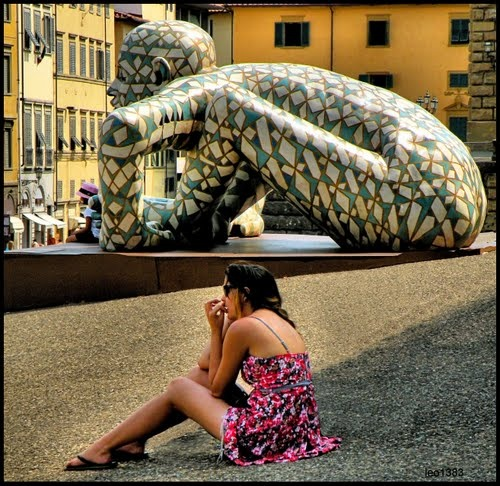 Rabarama statue in Florence..© by leo1383