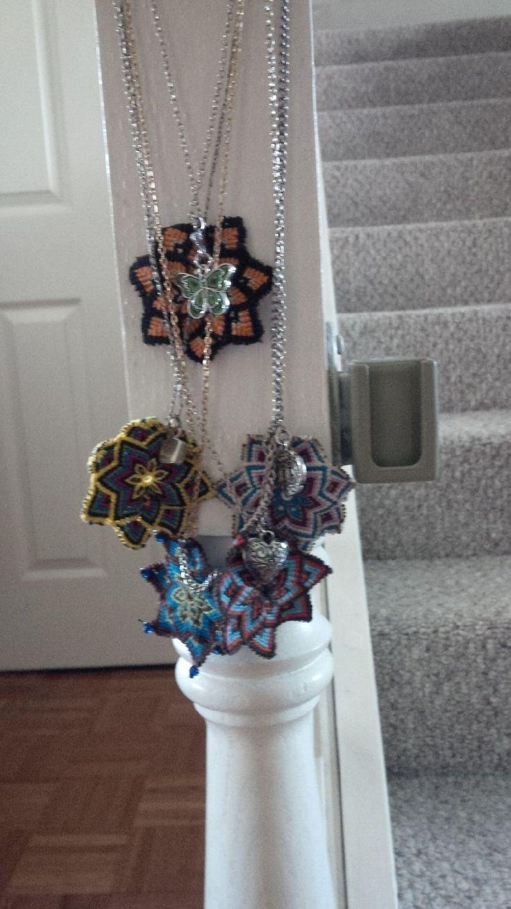 Macrame mandala necklaces
