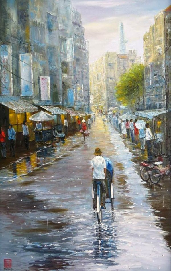 Impressioni Artistiche Kha Trung In 2020 Painting Abstract Painting Contemporary Impressionism