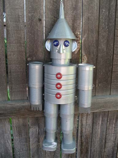 Recycled tin man today 39 s craft and diy ideas pinterest for Tin man out of cans