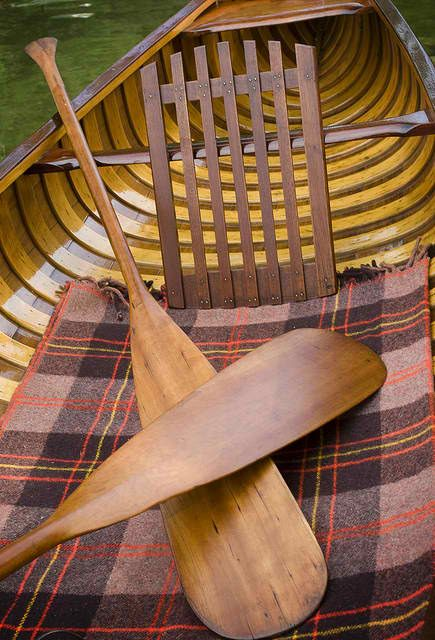 Bits, Pieces & Slices of Life - love wooden canoes and with a tartan throw, what a perfect way to spend an afternoon