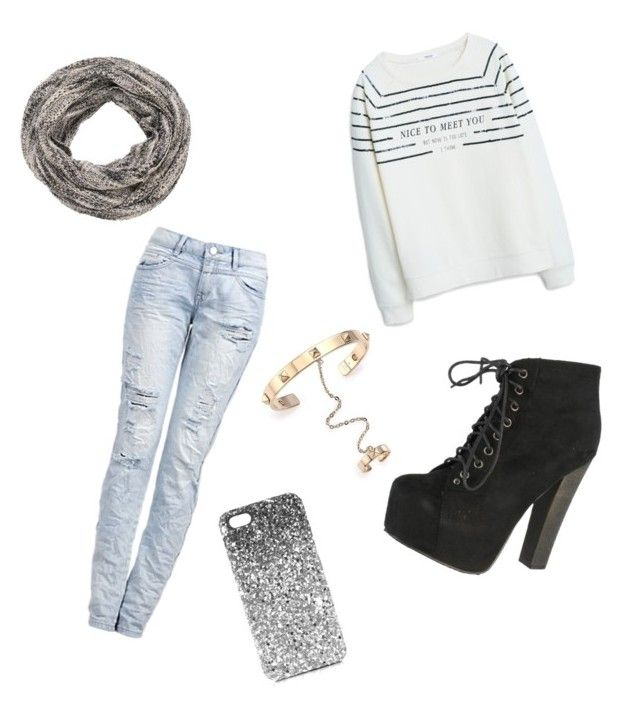 """""""Untitled #9"""" by shaye1z ❤ liked on Polyvore featuring MANGO, Breckelle's, Topshop, Valentino and maurices"""