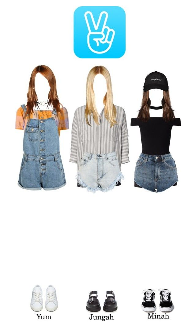 """""""V Live - Yum, Jungah & Minah"""" by solarofficial ❤ liked on Polyvore featuring Martin Grant, Miss Selfridge, By Malene Birger, Topshop, Bambam, STELLA McCARTNEY, Erika Cavallini Semi-Couture, Boohoo, adidas Originals and Kenneth Jay Lane"""