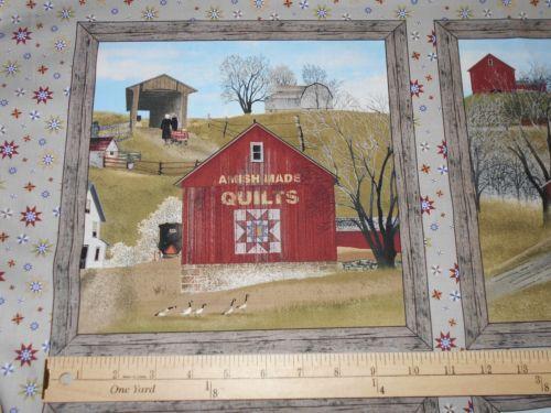 Elizabeth Studio Fabric Headin Home Panel Amish Quilts