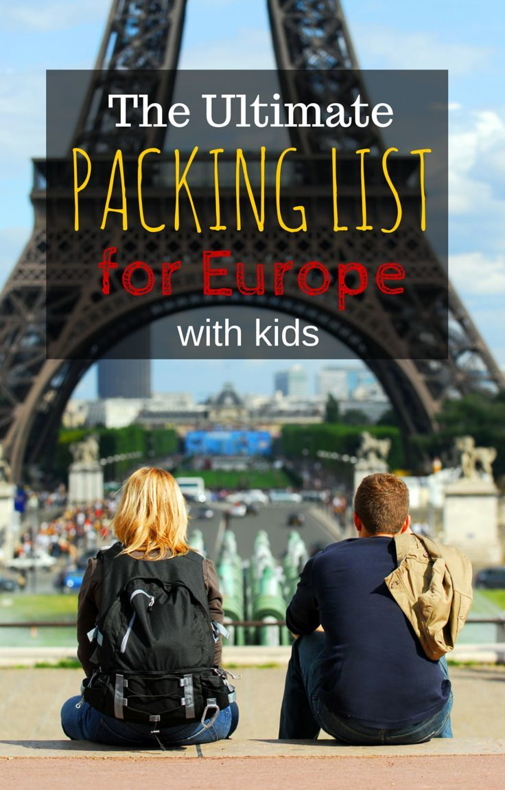 Complete packing list for Europe with kids especially for people who like a carry on only packing list http://www.wheressharon.com/planning-family-travel/packing-for-europe-in-summer-carry-on-only-packing-list/