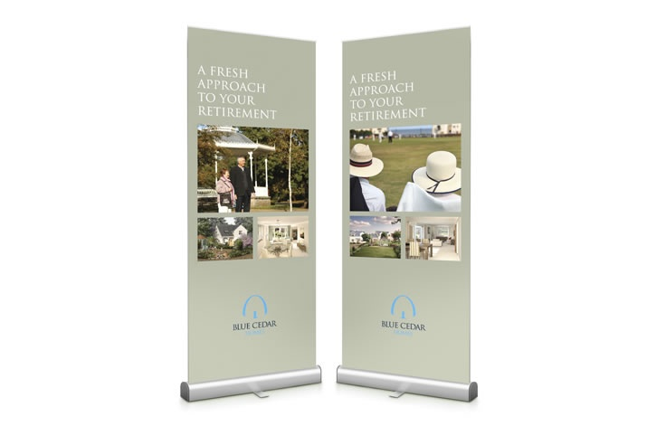 Pull up banners are a great way to get across a marketing message