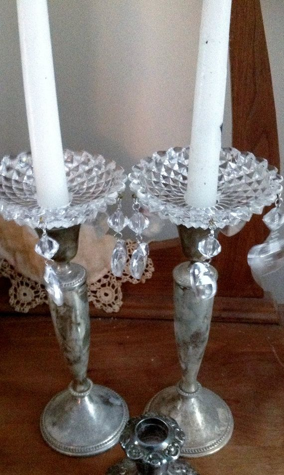 diy candle wax catcher. Vintage Bobeche Hearts Crystal Candle Embelishment by TinkerMelz  30 00 56 best Love images on Pinterest sticks Lights