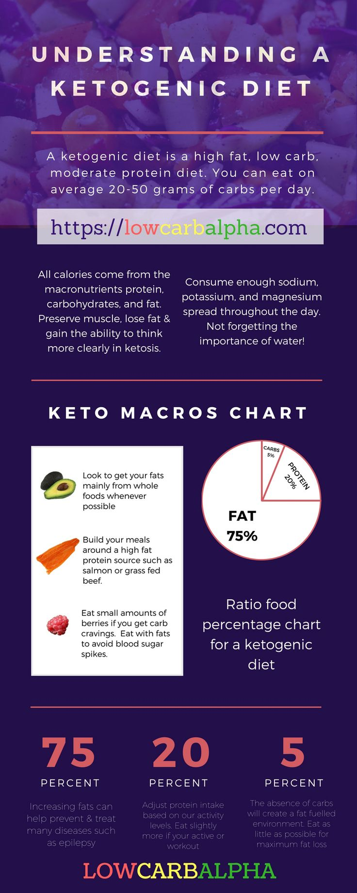 Understanding a Ketogenic Diet https://lowcarbalpha.com/increase-fat-burning-during-ketosis/ How to increase weight loss with keto. Keto is high in fats, low in carbs and moderate amounts of proteins. Look to eat around 20-50 grams of carbs per day #ketog