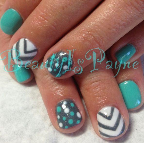 I wanna get mine done like this nail art pinterest for Decoracion unas shellac