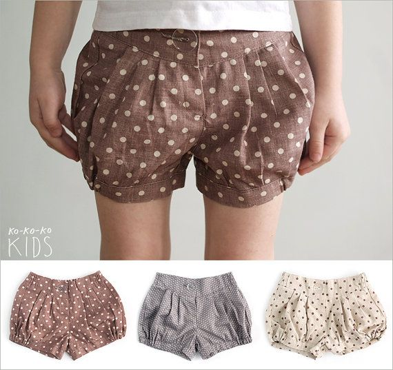 Polka Dot Shorts For Girls (different colors)