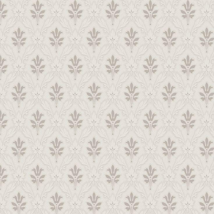 Papperstapet med flexotryckt mönster. Nyproducerad med inspiration från skandinaviska förlagor. Rapportlängd 19 cm.
