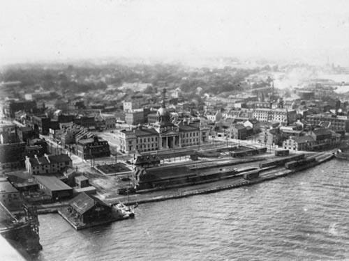 Kingston, ON, Waterfront in 1919. From Vintage Kingstons Facebook page