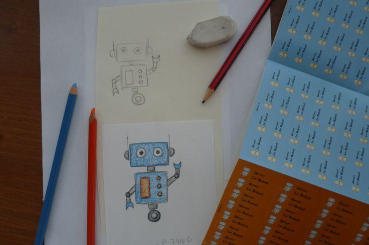 Un petit robot prend vie!  Pour tout identifier - www.colleamoi.com