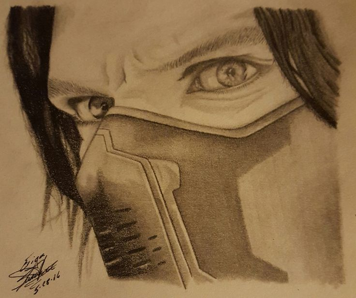 Finished my pencil drawing of Sebastian Stan as Bucky Barnes/ The Winter Soldier!
