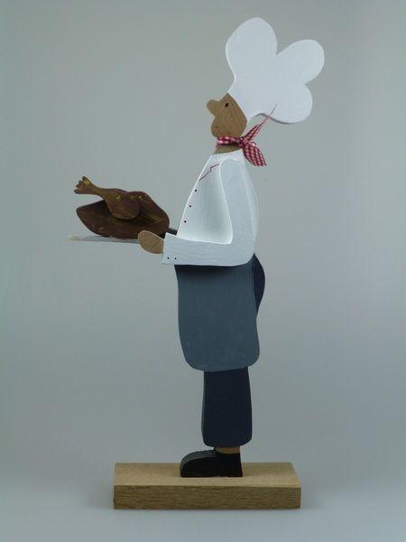 Koch - dekorative Figur aus Holz für die Küche von mw-holzkunst auf DaWanda.com