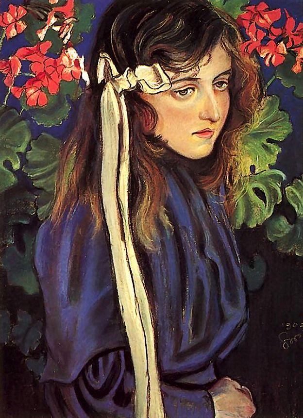 Portrait of Eliza Parenska Stanislaw Wyspianski - 1905