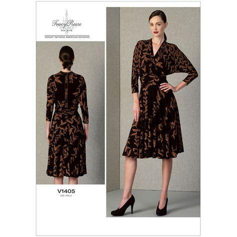 Misses Dress Vogue Pattern 1405.