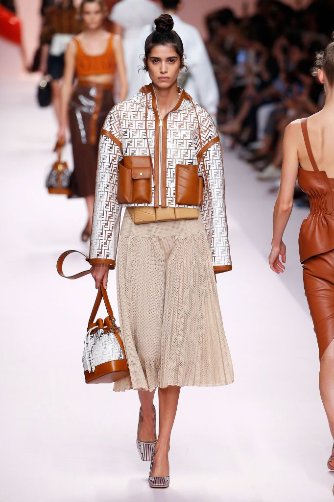 07de88d9c5f A model walks the runway at the Fendi show during Milan Fashion Week  Spring Summer 2019 on September 20