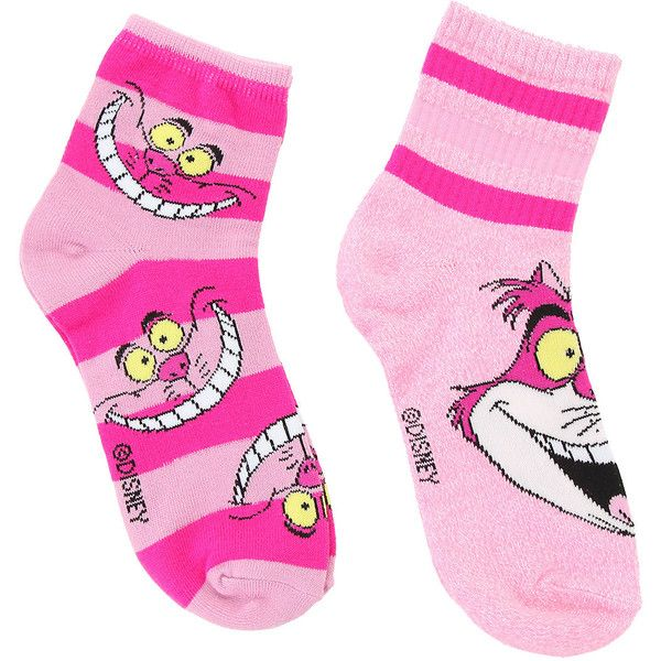 Disney Alice In Wonderland Cheshire Cat Ankle Socks 2 Pack Hot Topic ($13) ❤ liked on Polyvore featuring intimates, hosiery, socks, cat socks, disney socks, disney, tennis socks and short socks