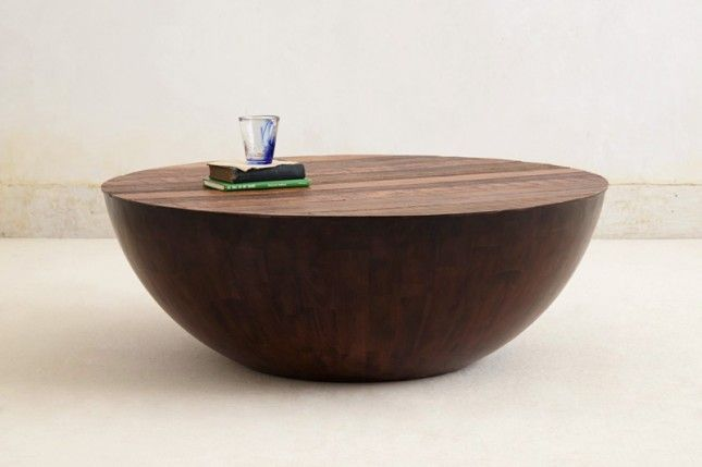 The 50 Most Beautiful Coffee Tables Ever via Brit + Co. - bowl-shaped wooden coffee table...can I make it?
