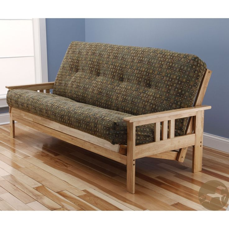 Christopher Knight Home Multi-flex Natural Wood Futon Frame with Innerspring Mattress, Green, Size Full