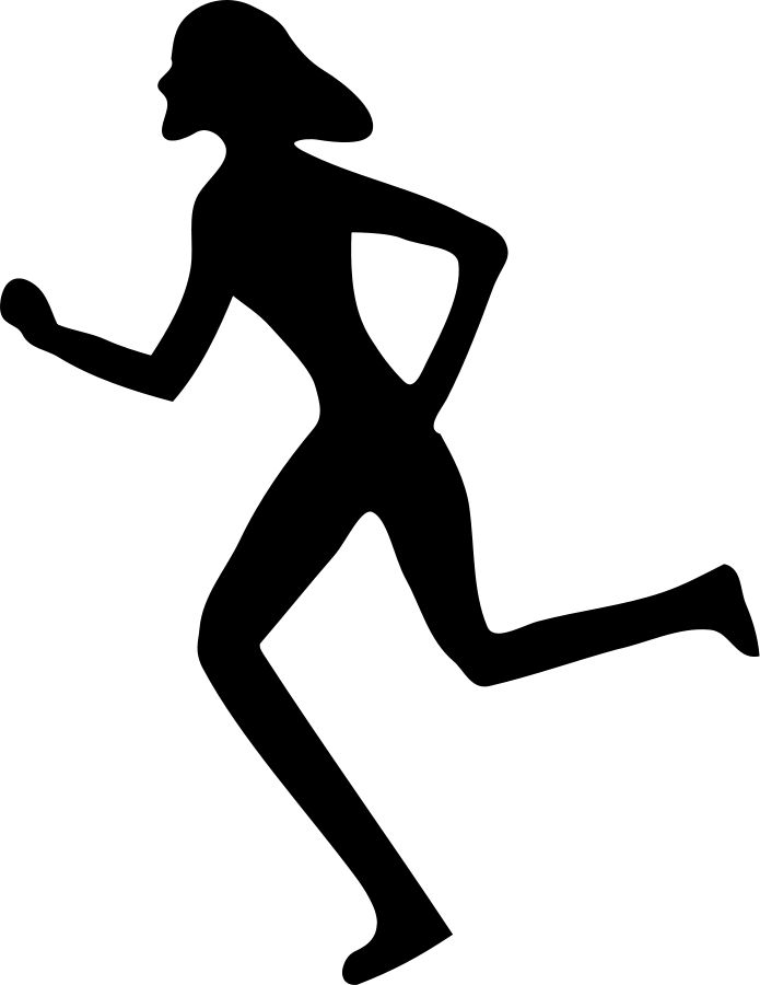 Scared Girl Running Clipart
