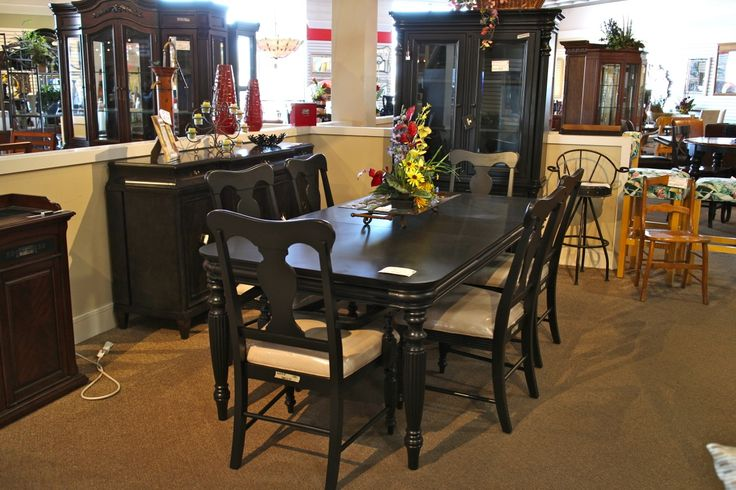 dining room sets las vegas | Klaussner Black Dining table w/ 6 Chairs - Colleen's ...