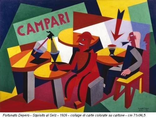 Fortunato Depero - Squisito al Selz - 1926 - collage di carte colorate su cartone - cm 71x96,5