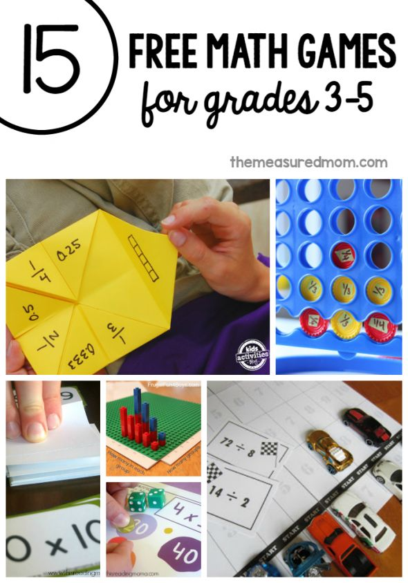 Love the variety in these free math games for third grade through fifth!