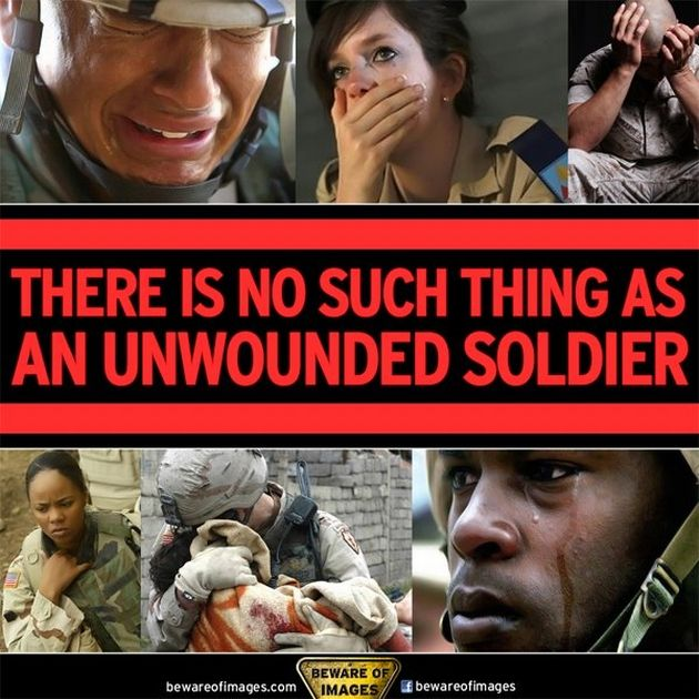 """Jose Narosky: """"In war, there are no unwounded soldiers."""""""