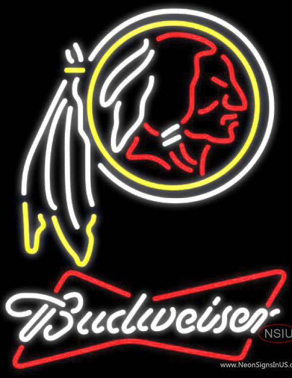 Budweiser Neon Washington Redskins NFL Real Neon Glass Tube Neon Sign,Affordable and durable,Made in USA,if you want to get it ,please click the visit button or go to my website,you can get everything neon from us. based in CA USA, free shipping and 1 year warranty , 24/7 service