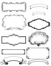 Free printable - vintage black and white labels