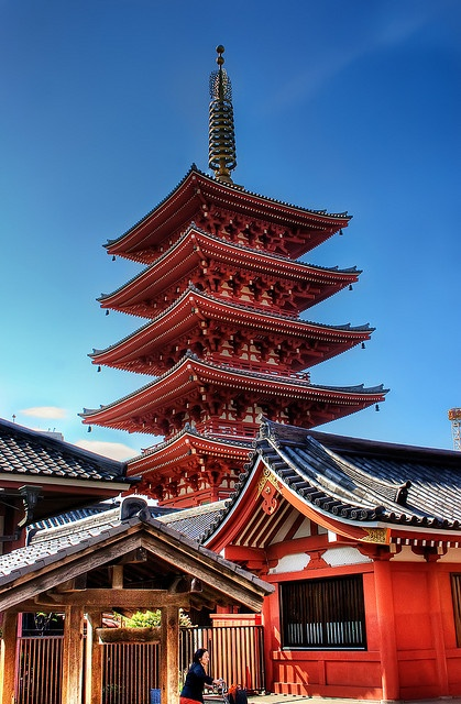 Went also to Senso Ji Temple...beautiful arquitecture in Asakusa, Tokyo, Japan 浅草 東京