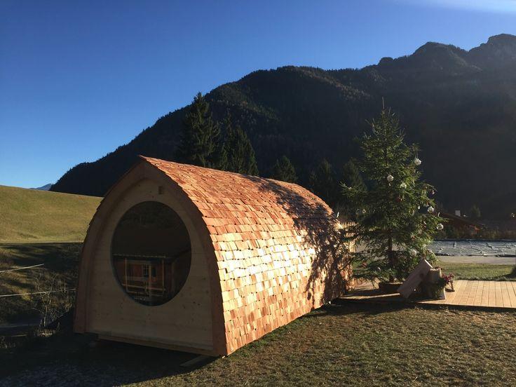 Sauna Igloo con vetro panoramico tondo