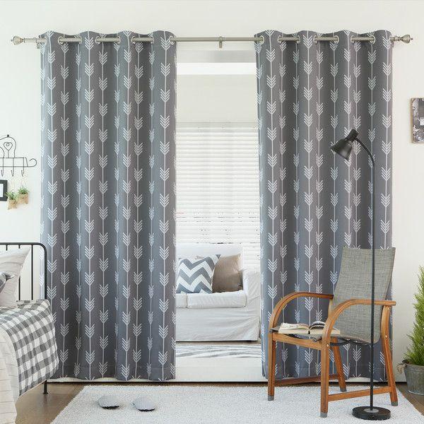 25+ Bästa Grey Patterned Curtains Idéerna På Pinterest